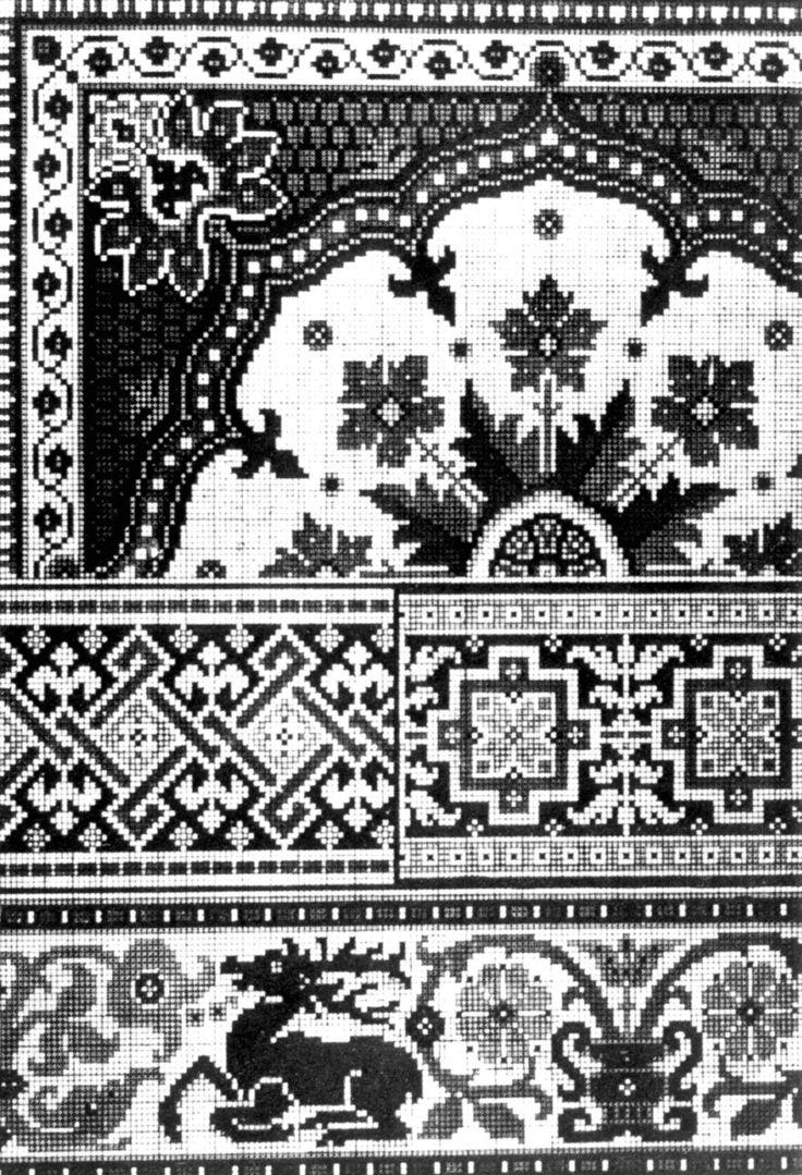 """DigitaltMuseum - Broderimønster fra 1872, Tyskland. Fra Friedrich Fischvachs """"Album für Stickerei""""."""