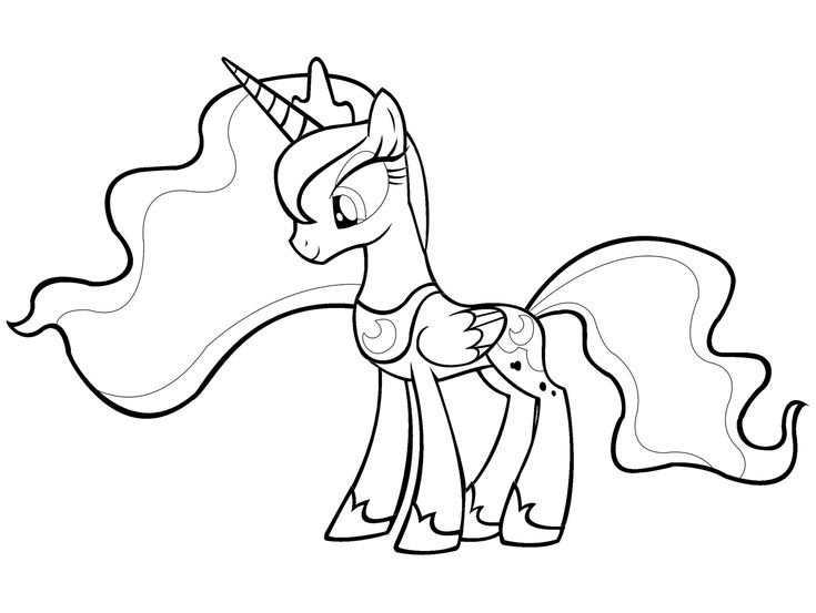 Mlp Printable Coloring Pages Princess Luna Colouring My Pony Princesses Coloring Pages