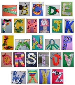 our 1st round of letter of the week crafts - can I blow them up and frame?