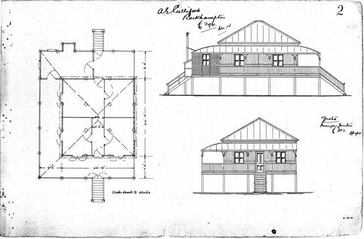 Vintage 1914 Queensland regional workers cottage plan Courtesy of www.househistories.org