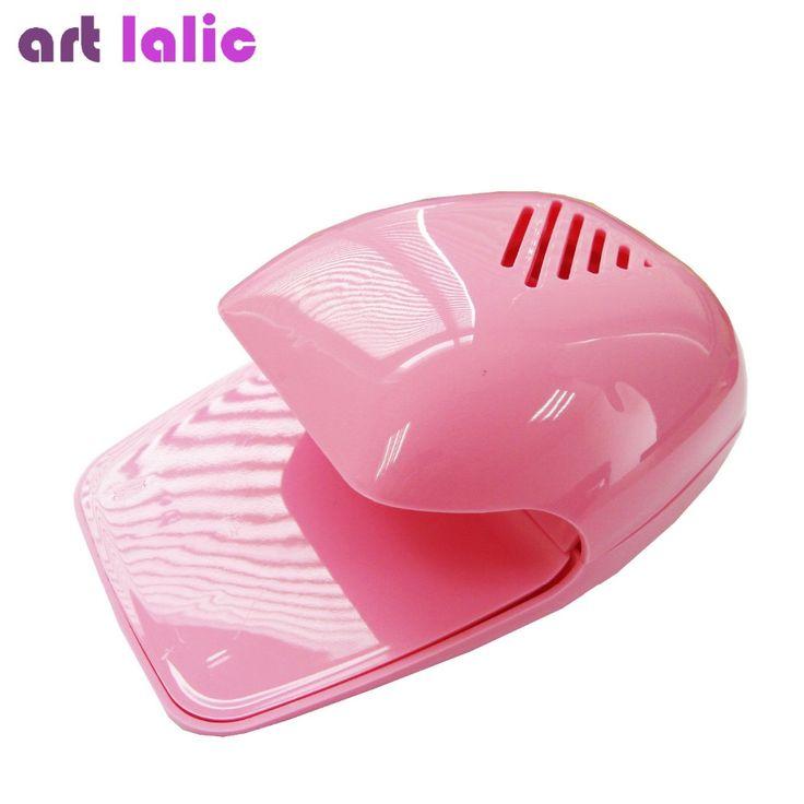 Hot Selling New Arrival 2016 Mini Portable Nail Polish Dryer Fan Nail Art Drying Polish Blow Dryer PINK Art lalic