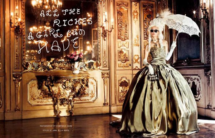 ALL RICHES A GIRL CAN HAVE 華麗な夢にたゆたうプリンセス。 PHOTOGRAPHED BY GIAMPAOLO SGURA STYLED BY ANNA DELLO RUSSO
