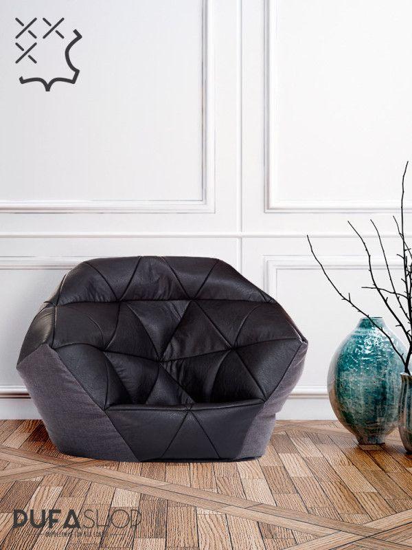 Fotel Avatar Czarno Szary Pufashop aranzacja