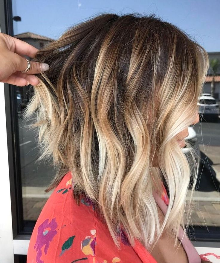 58 Super Hot Long Bob Hairstyle Ideas That Make You Want To Chop Your Hair Right Now Nel 2020 Capelli Castani Con Riflessi Biondi Capelli Biondi Capelli Castani Biondi