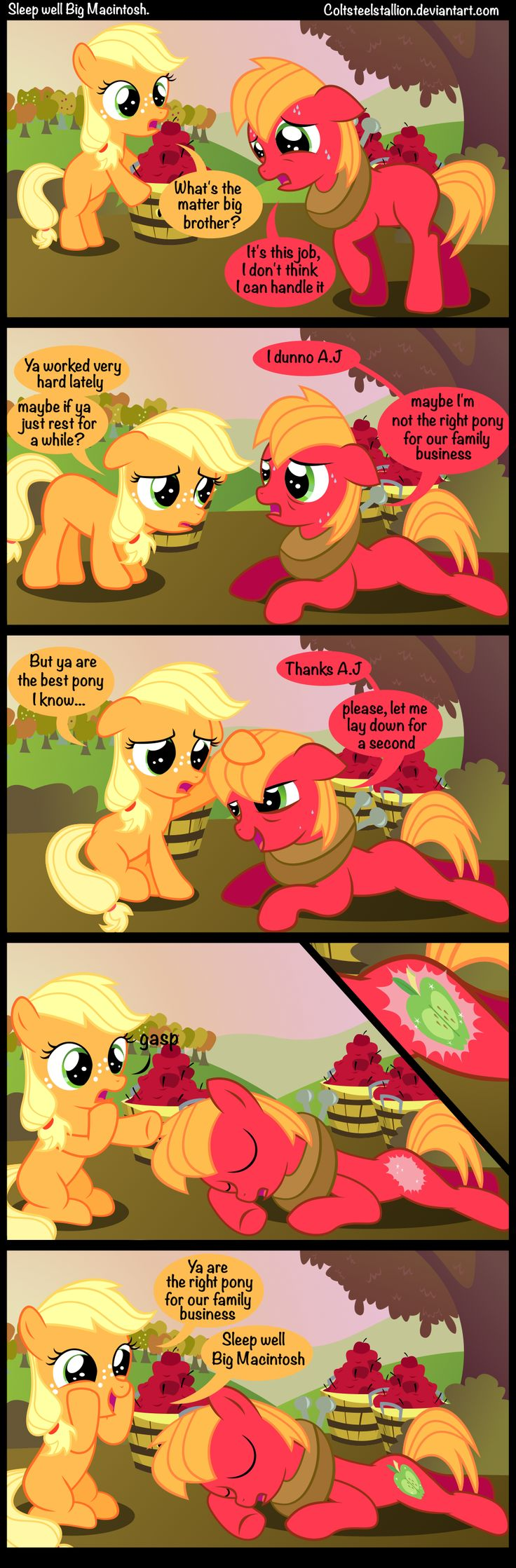 sleep well Big Macintosh. by Coltsteelstallion.deviantart.com on @deviantART