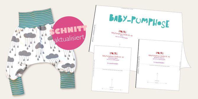 Lybstes.de: Baby-Pumphose - kostenloses Schnittmuster, Freebie, NEU