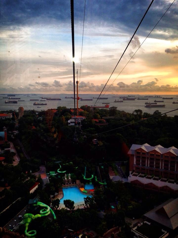 Resorts World from Above   Singapore   Cable Car   Adventure Cove