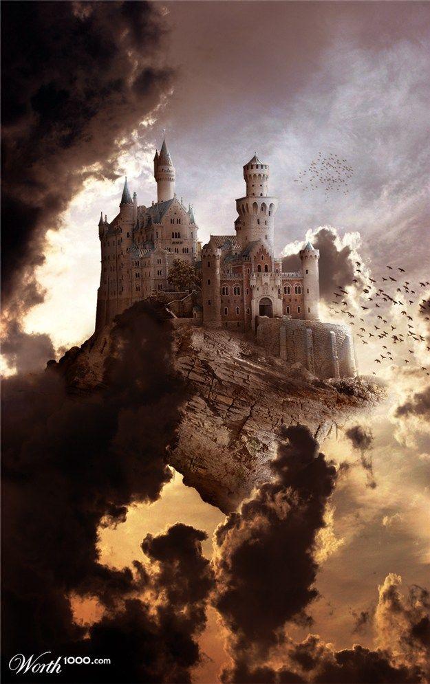 .Castles Castillo, Castles In The Sky, Art Pics, Choice Art, Fantasy Ideas, Sky Castles, Sweets Castles, Castles Fantasy, Fairies Tales