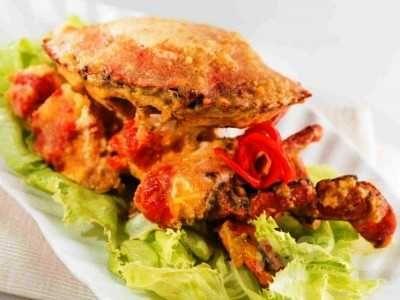 Kepiting Telur Asin - Berikut ini ada cara membuat video resep kepiting telur asin saus siram soka goreng layar ncc asli sajian sedap restoran surabaya paling enak dan sederhana.