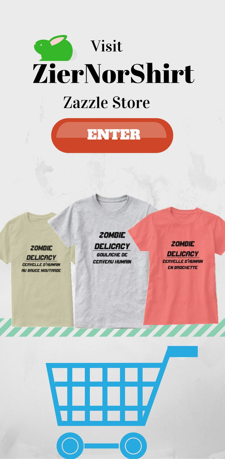 Take a look at ZierNorShirt Zazzle Store to look at more Zombie Delicacy T-Shirt