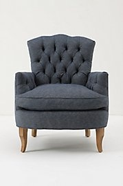 Anthropologie- I saw this chair and fell in love. I think I will have to settle for finding an old one and paying to recover it... I think it may still be less expensive.
