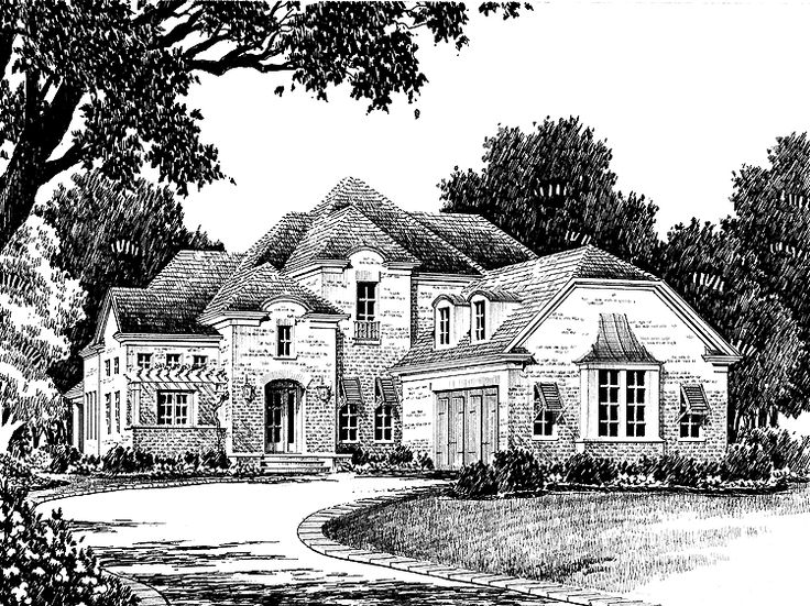 Eplans norman house plan arbor view from the southern living