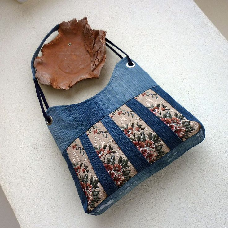 how to make a handbag out of jeans