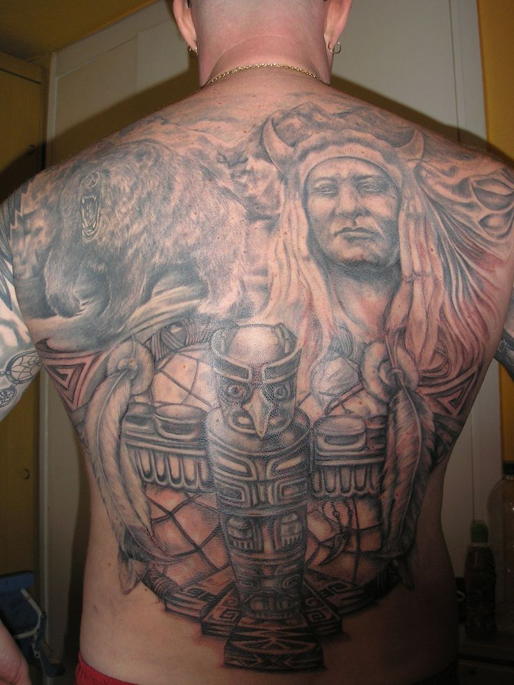 Indian Back Piece Tattoo Design For Men Tattoobite Com