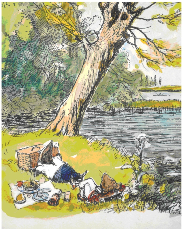 Wind In The Willows - Mole & Ratty on a picnic.