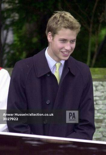 December 24, 2000: Prince William after he and the rest of the Royal Family attended a Sunday church service St Mary Magdalene Church in Sandringham. Photo. Anwar Hussein