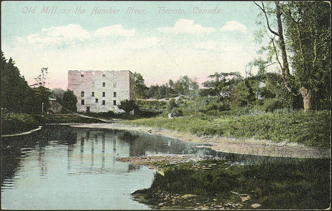 The Old Mill, Humber River, 1910...