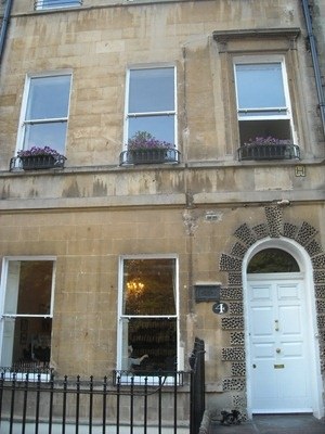 Sydney Place, which was the first place where Jane lived when the Austen family moved to Bath. Number 4 is a simple terraced house, which used to have lovely views over the gardens.