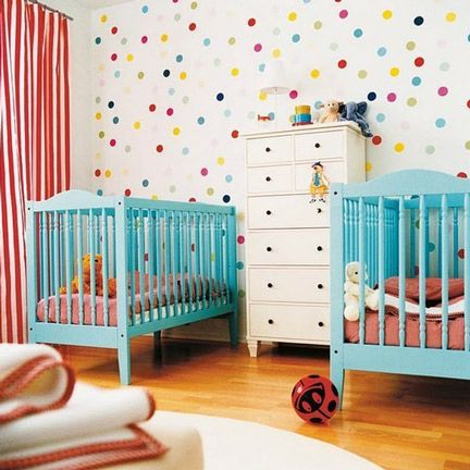 awesome-polka-dot-walls and I like the colors. No Pink!