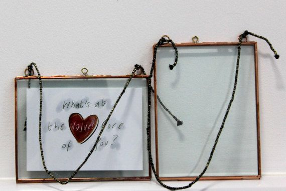 Copper Photo Frame // Small Portrait // by GlassHalfFullDesign
