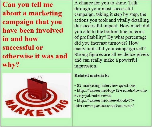 operational and situational questions related materials 82 - marketing interview questions