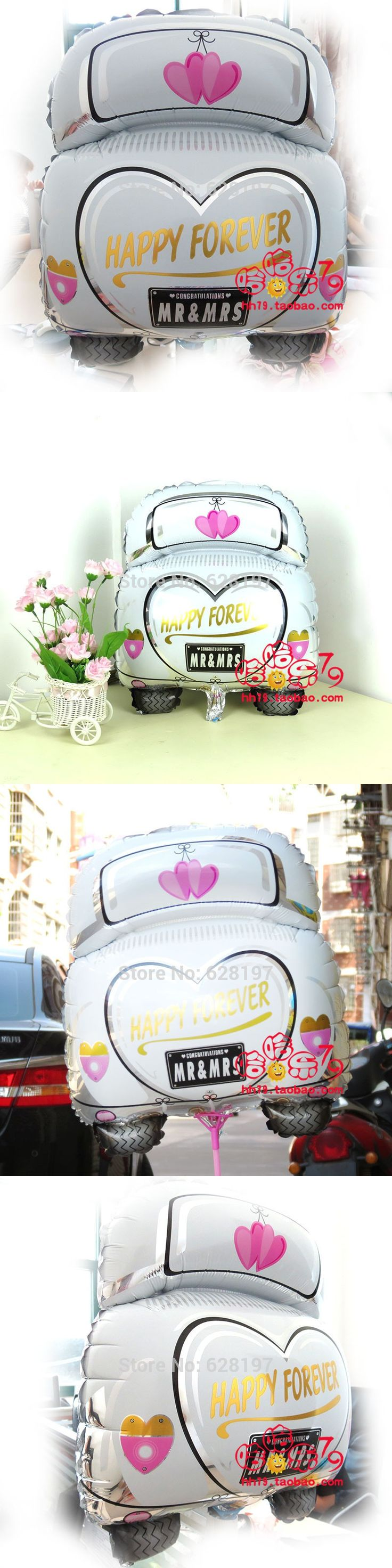 Wedding decorations for car  pcs multi color D Wedding car wedding Aanagram ballon foil ballon