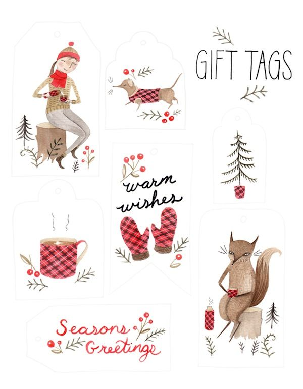 gift tags by Julianna Swaney.