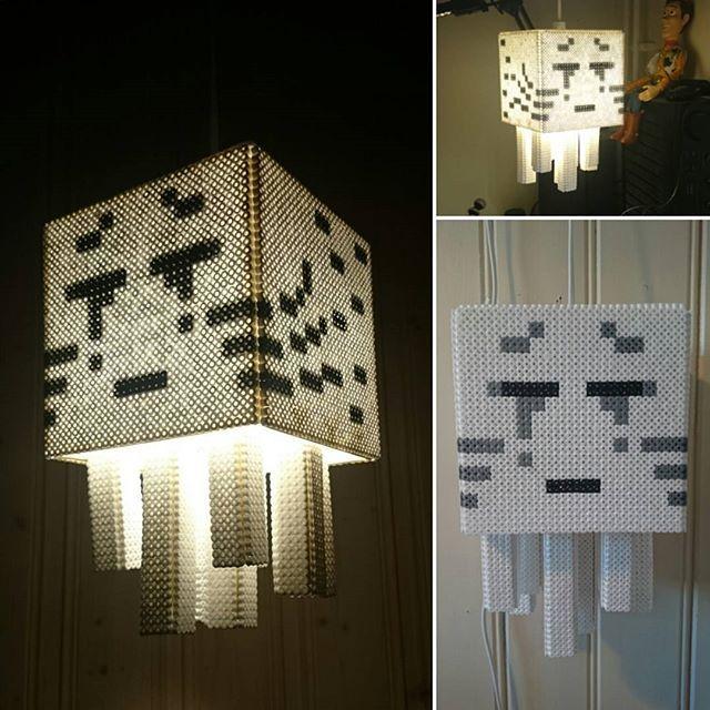 Ghast-lampe! #minecraft #hamabeads  #kreasiw