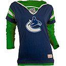 Old Time Hockey Vancouver Canucks Women's Marte Fooler Hood T-Shirt - Shop.Canada.NHL.com