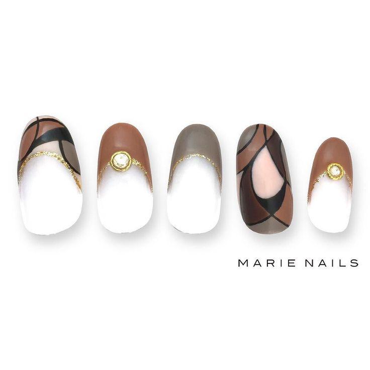 #マリーネイルズ #marienails #ネイルデザイン #かわいい #ネイル #kawaii #kyoto #ジェルネイル#trend #nail #toocute #pretty #nails #ファッション #naildesign #ネイルサロン #beautiful #nailart #tokyo #fashion #ootd #nailist #ネイリスト #ショートネイル #gelnails #instanails #newnail #秋ネイル #autumn #brown
