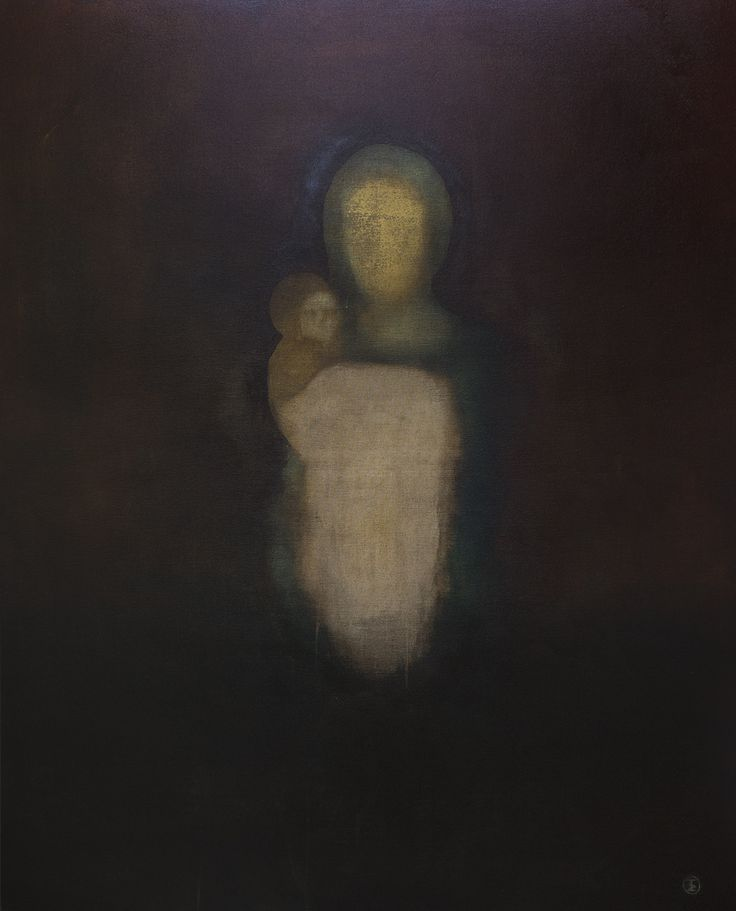 "Apostolis Itskoudis, ""Mother"" (Μητέρα), acrylics on canvas, 120Χ150 cm, 2016."