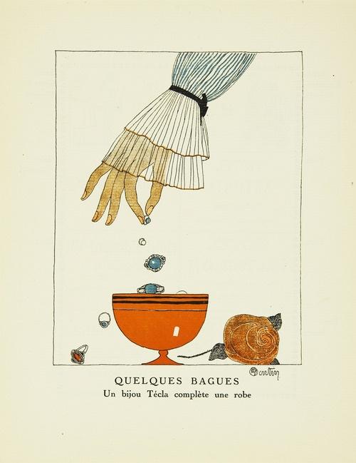 Charles Martin pochoir for Gazette du Bon Ton