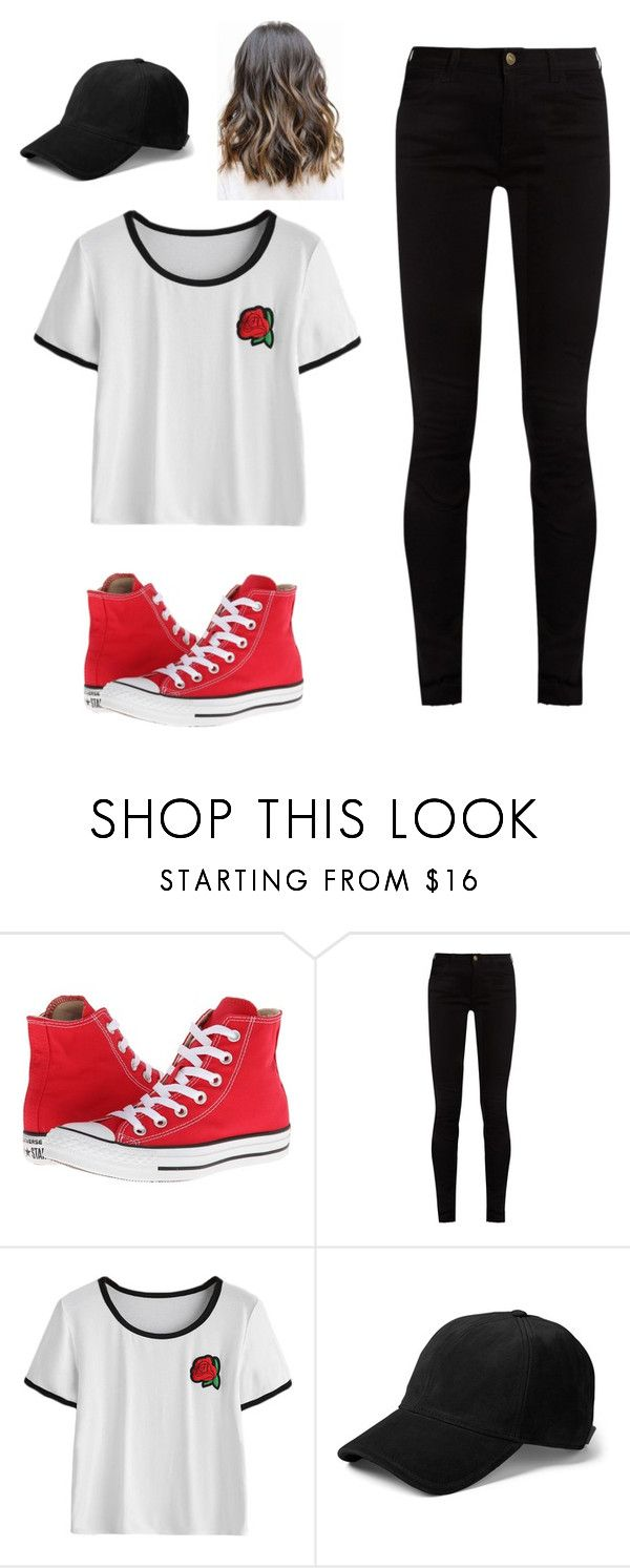 """""""Casual Black & Red Rose Outfit"""" by brooke-s-6 on Polyvore featuring Converse, Gucci and rag & bone"""