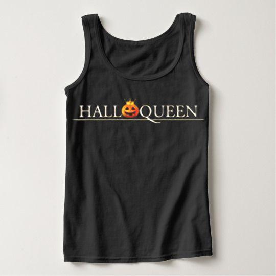 Halloqueen funny Halloween Custom Tanktops