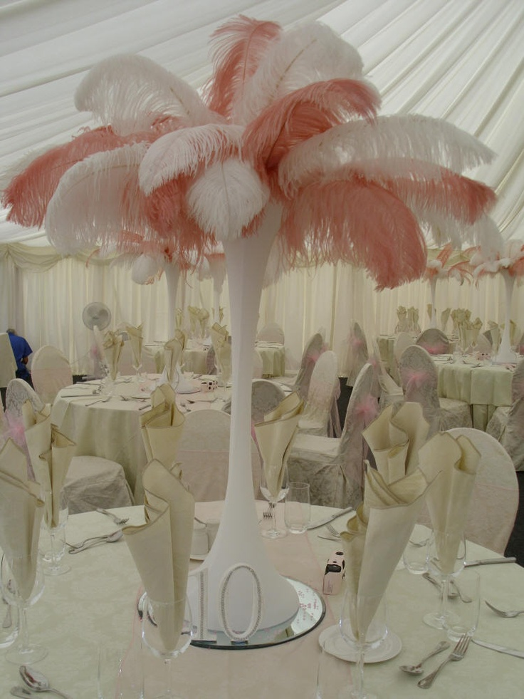 17 Best Images About Feather Centrepieces On Pinterest Peacocks Feathers And Wedding Table