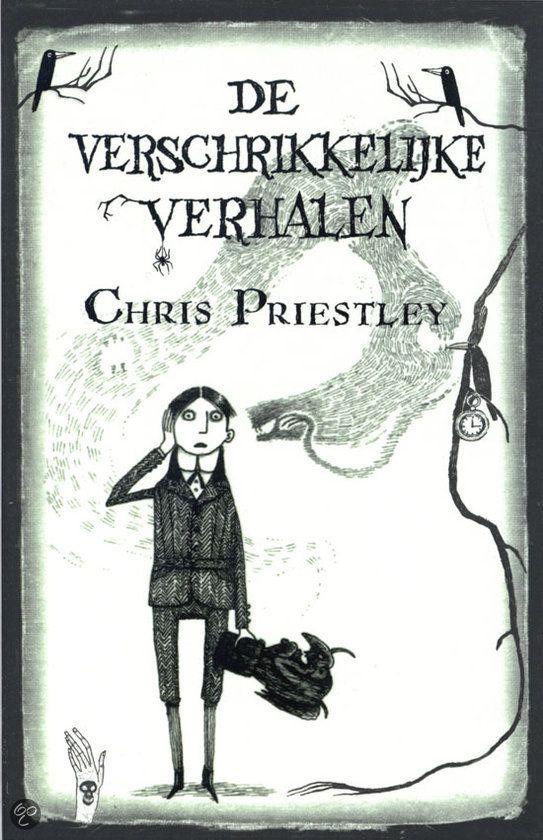 Chris Priestley - De verschrikkelijk verhalen (deel 1 en 2) || Dutch Media Uitgevers 2010, 446 pagina's || In De verschrikkelijke verhalen van oom M. vertelt hij over Edgar, die dol is op de huiveringwekkende spookverhalen van zijn oom Montague. Maar wanneer Edgar in het huis van zijn oom mysterieuze voorwerpen vindt die een rol in de verhalen spelen, wordt hij bang. De verhalen kunnen toch niet waargebeurd zijn?  || http://www.bol.com/nl/p/de-verschrikkelijk-verhalen/1001004008266596/