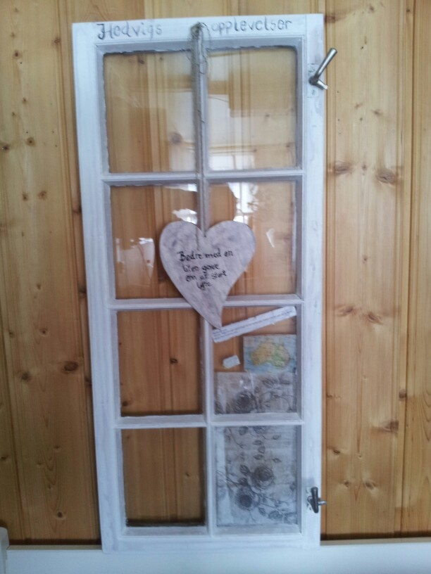 An old Window with deucopage and Painting
