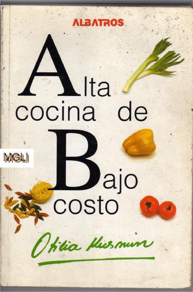 Libro alta cocina, bajo costo