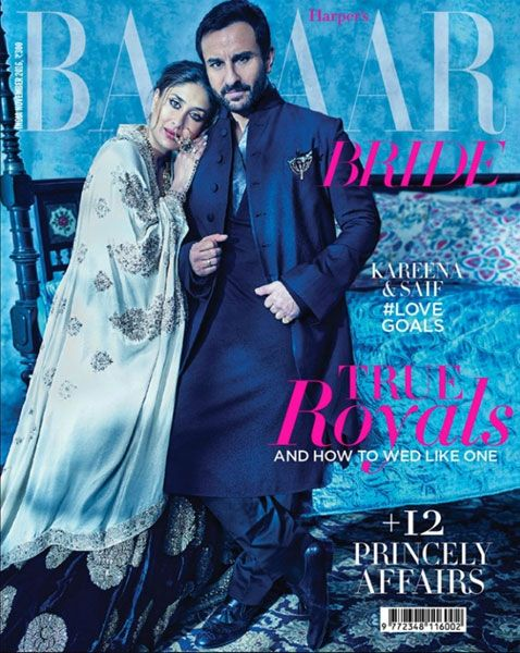 Saif Ali Khan: Pics: Kareena Kapoor and Saif Ali Khan look regal in their new photo shoot - Times of India