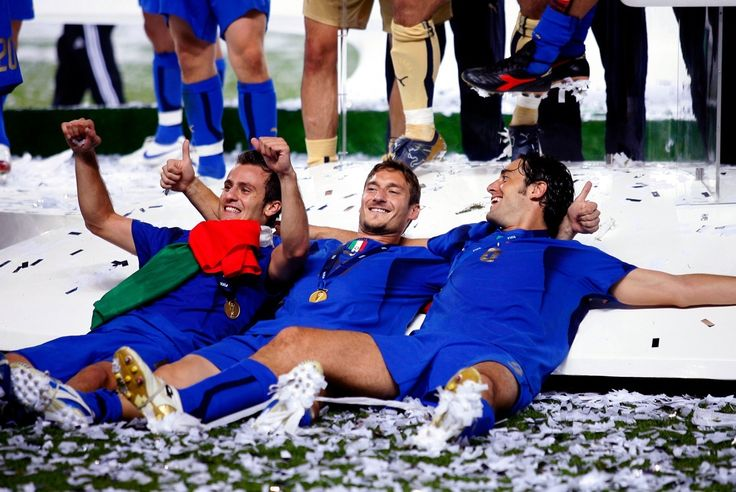 Alberto Gilardino, Francesco Totti and Luca Toni celebrating WC 2006 victory!!!