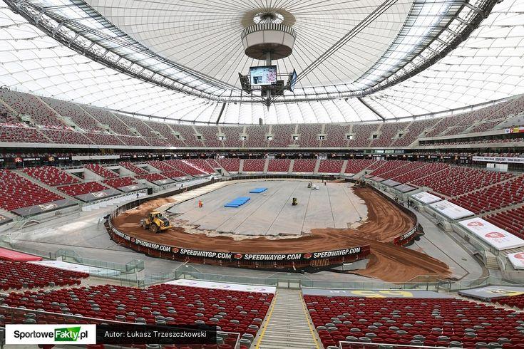 Budowa toru żużlowego na Stadionie Narodowym