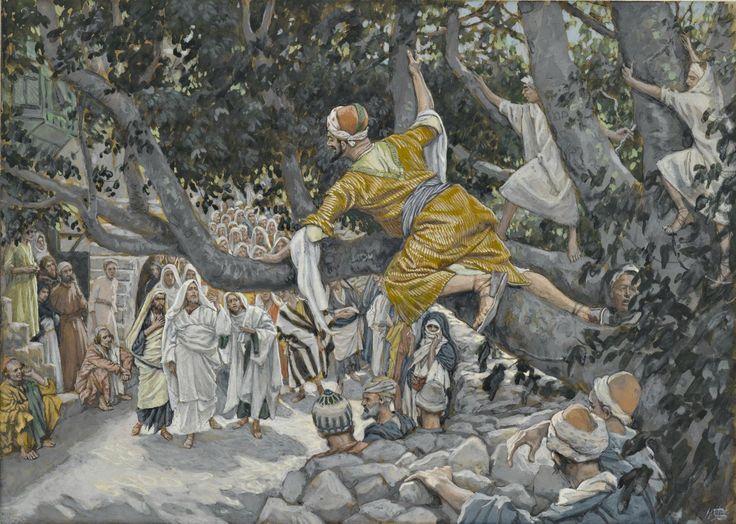 Zacchaeus in the Sycamore Awaiting the Passage of Jesus / Zachée sur le sycomore attendant le passage de Jésus // 1886-1896 // James Tissot // Brooklyn Museum