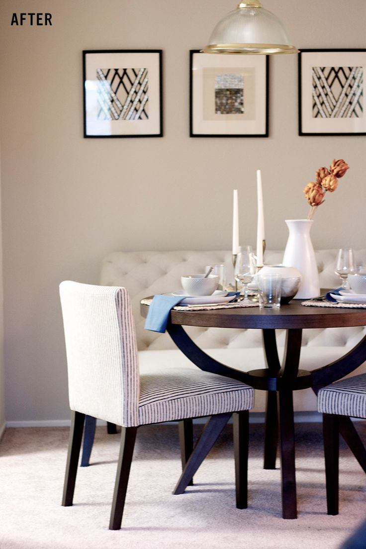 4 Interior Design Hacks To Transform Your Apartment Fast NOTE In A Small Space Dining Table Bench SeatDining