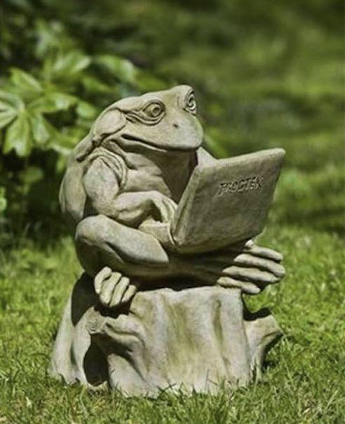 Beautiful Campania International Totally Zen Too Frog Statue