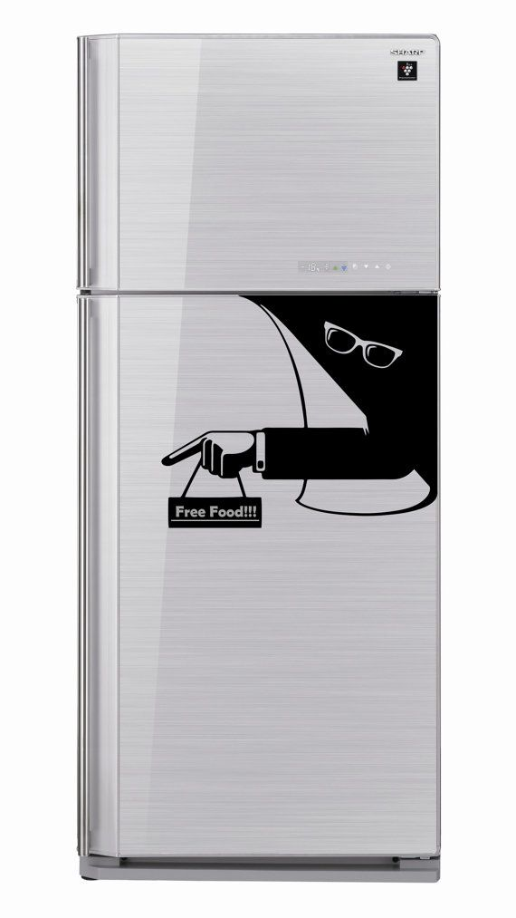 Fridge Sticker Invisible Man Ray Ban Glasses by VinyleeGraphix