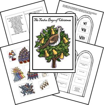 Free Lapbook: The Twelve Days of Christmas Lapbook Printables