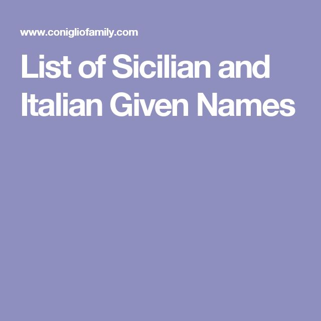 Italian Boy Name: The 25+ Best Italian Baby Names Ideas On Pinterest