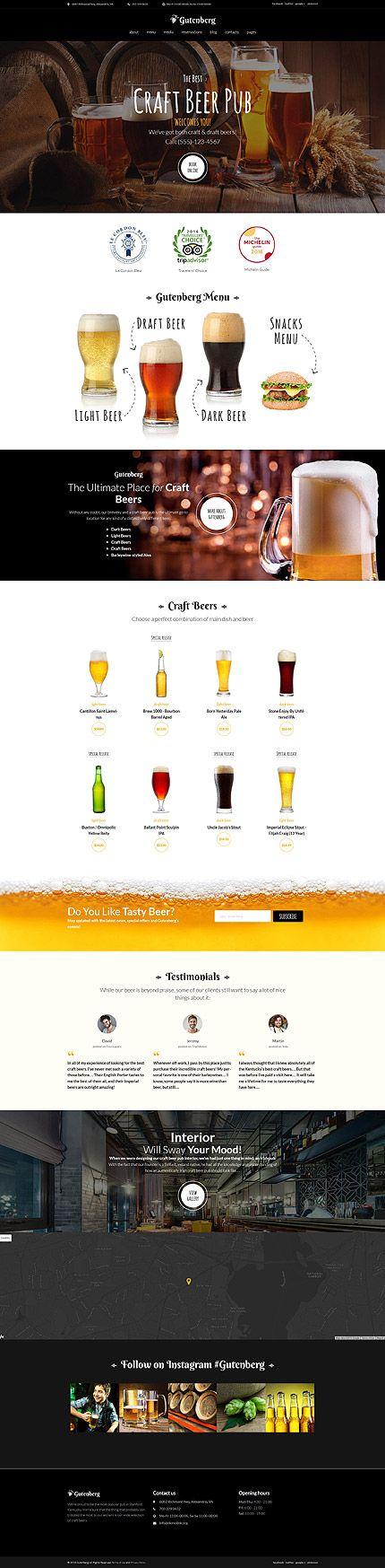 Craft Beer Pub Wordpress