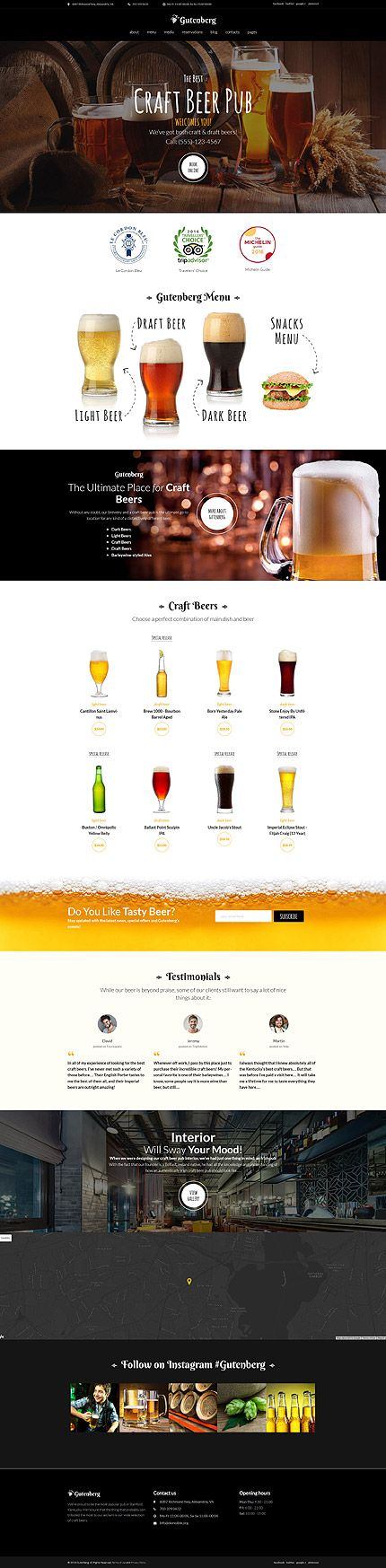 Craft Beer Pub #Wordpress #template. #themes #business #responsive #Wordpressthemes