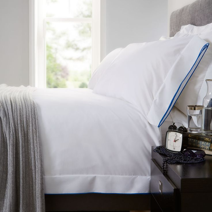 Norman Hartnell Chelsea Duvet Cover Set in White and Blue from http://www.worldstores.co.uk/p/Norman_Hartnell_Chelsea_Duvet_Cover_Set_in_White_and_Blue.htm